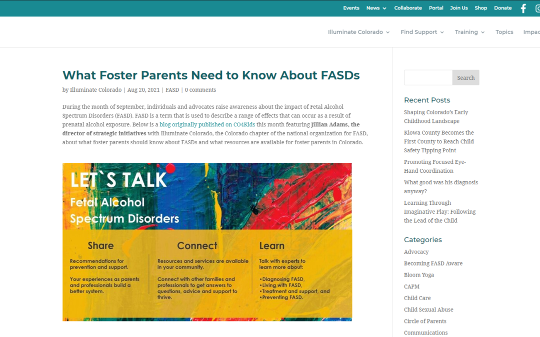 What Foster Parents Need to Know About FASDs